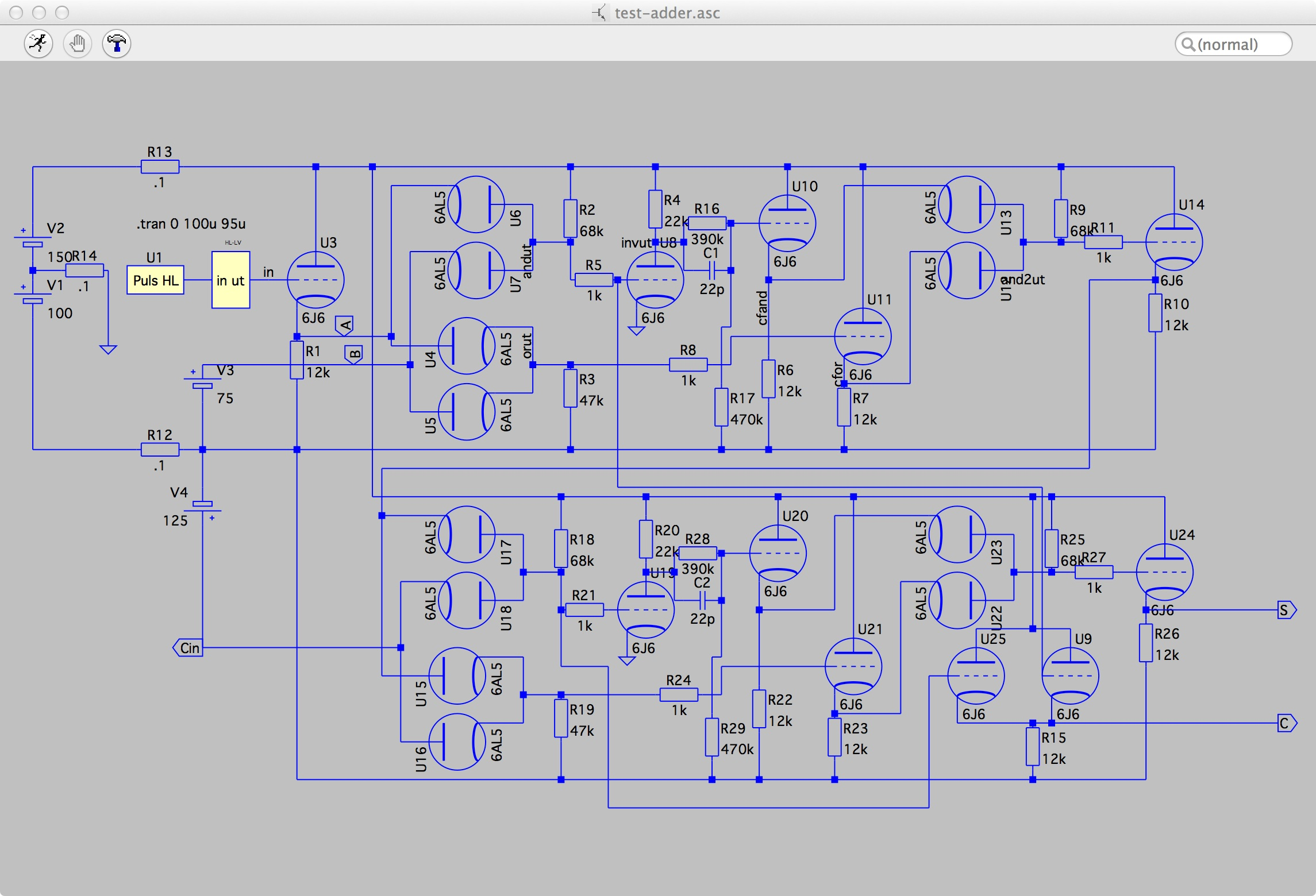 Building A Vacuum Tube Computer Full Adder Diagram The Schematics Are Here And